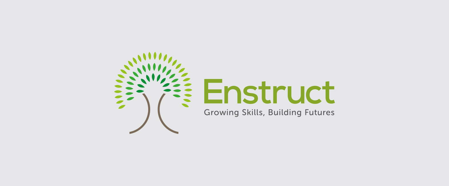 enstruct logo design